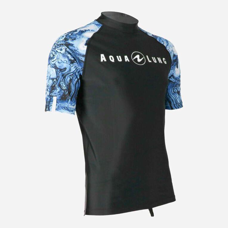 Aqua Rashguard Short Sleeve - Men, Bleu marine/Blanc, hi-res image number 1