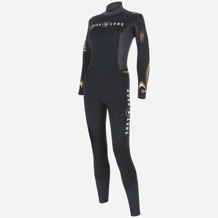 Dive 7mm Wetsuit Women, Noir/Orange, hi-res image number 2