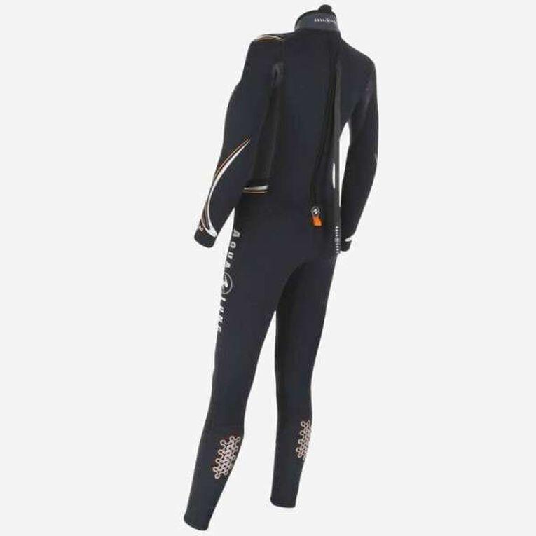 Dive 7mm Wetsuit Women, Noir/Orange, hi-res image number 1