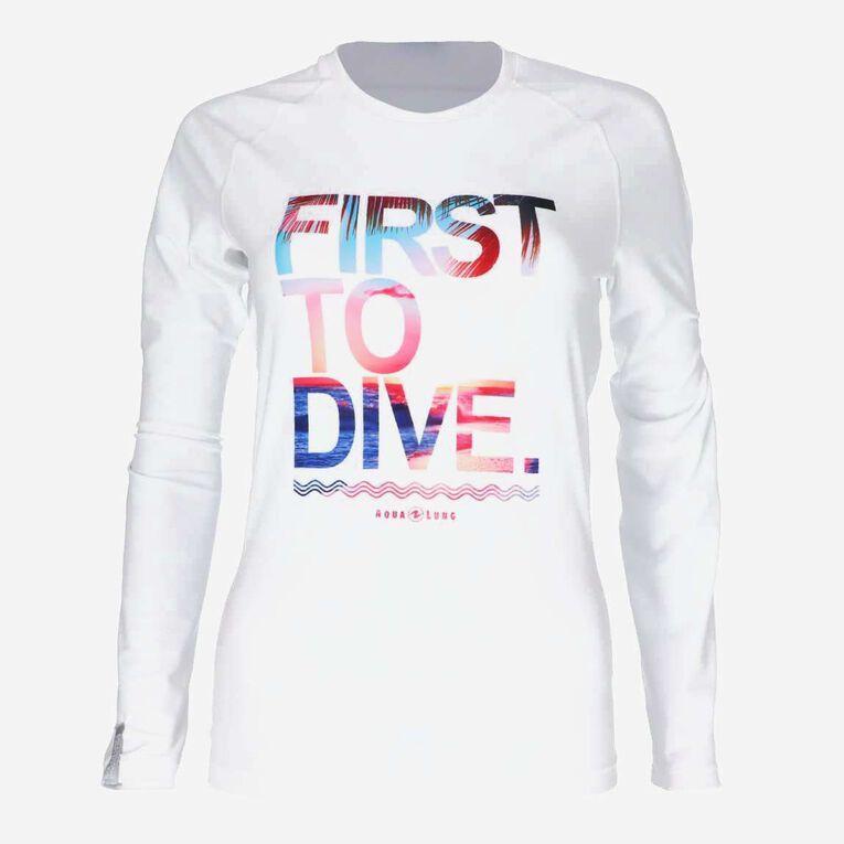 Sportswear Rashguard - Women, Blanc/Multicolore, hi-res image number 0