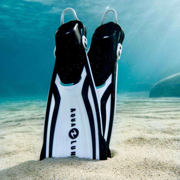 Amika Snorkeling Fins, Blanc/Noir, hi-res image number 1