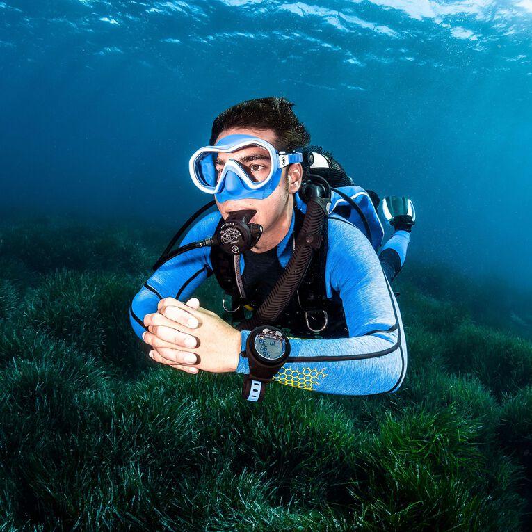 AquaFlex 5mm Wetsuit - Men, Gris/Bleu, hi-res image number 4