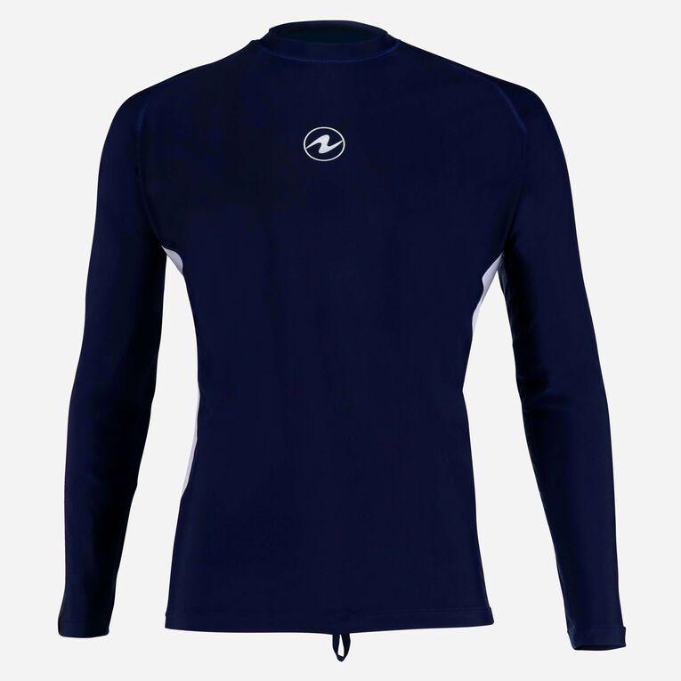 Rashguard Loose fit Long sleeves - Men, Bleu marine/Blanc, hi-res image number 0
