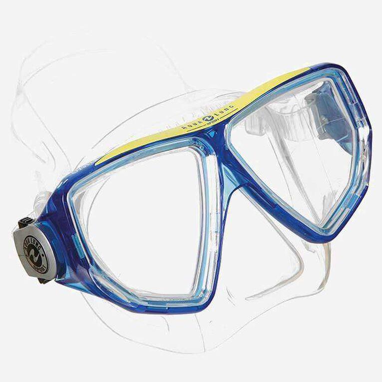Oyster snorkeling mask, Bleu/Blanc, hi-res image number 0
