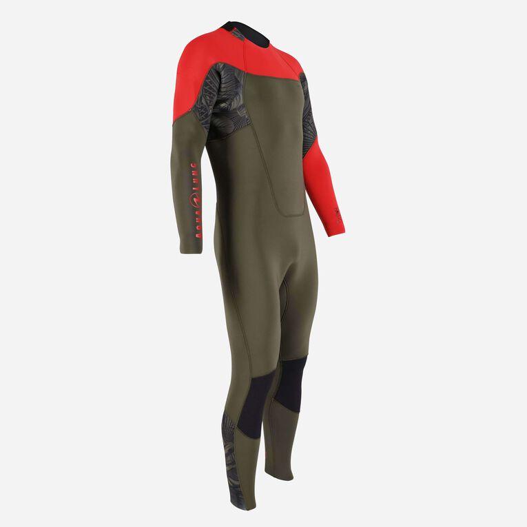 Xscape 4/3mm Wetsuit - Men, Vert foncé/Rouge, hi-res image number 1