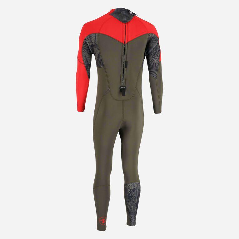 Xscape 4/3mm Wetsuit - Men, Vert foncé/Rouge, hi-res image number 3