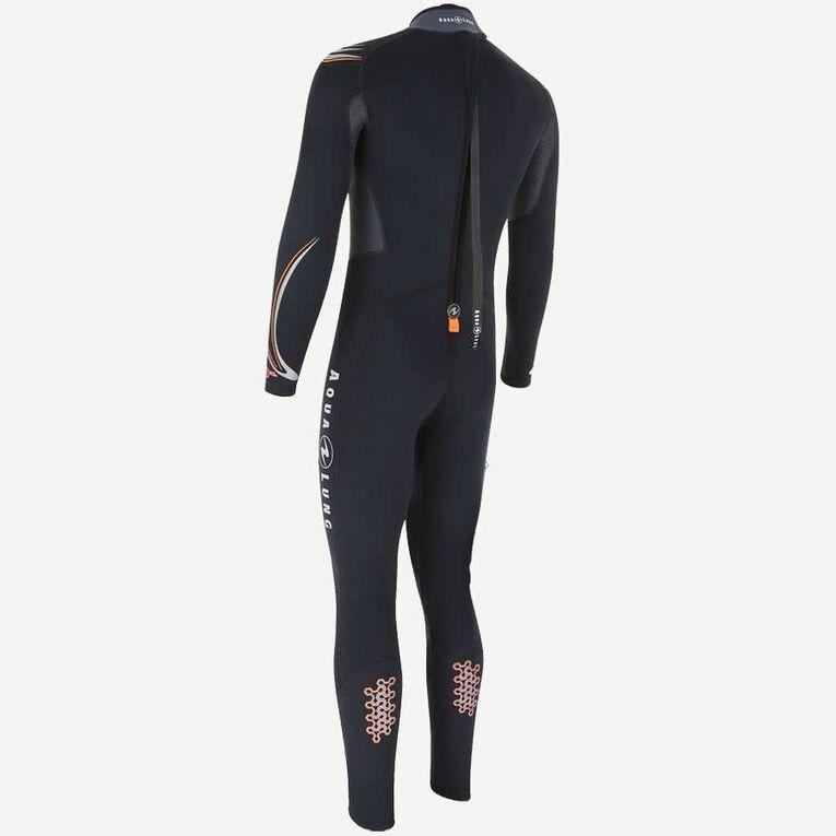 Dive 3mm Wetsuit, Noir/Orange, hi-res image number 1