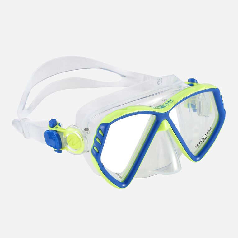 Cub Snorkeling mask Kids, Bleu clair/Vert vif, hi-res image number 0