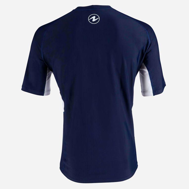 Rashguard Short Sleeve loose fit - Men, Bleu marine/Blanc, hi-res image number 3