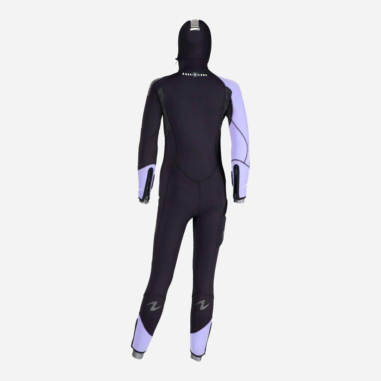 DynaFlex 6.5mm Wetsuit with Hood Women, Noir/Violet, hi-res image number 3