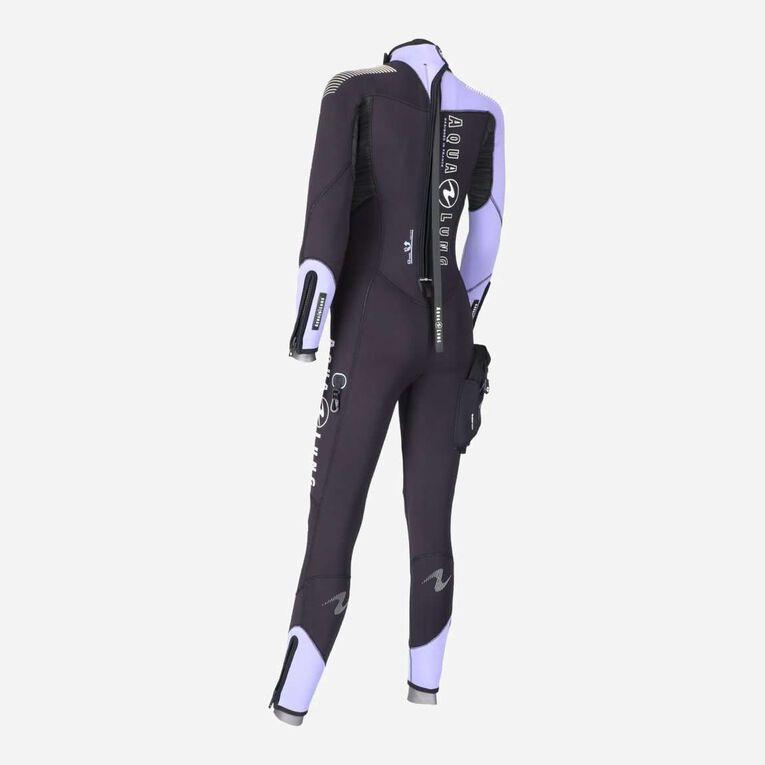 DynaFlex 5.5mm Wetsuit Women, Noir/Violet, hi-res image number 3