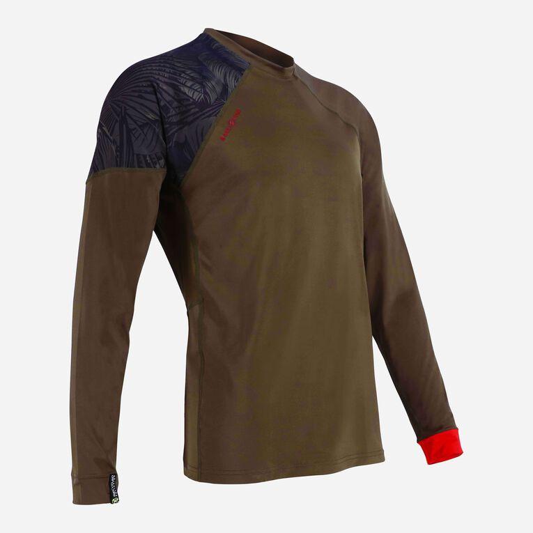 Xscape Rashguard Loose fit Long sleeves - Men, Vert foncé/Rouge, hi-res image number 1