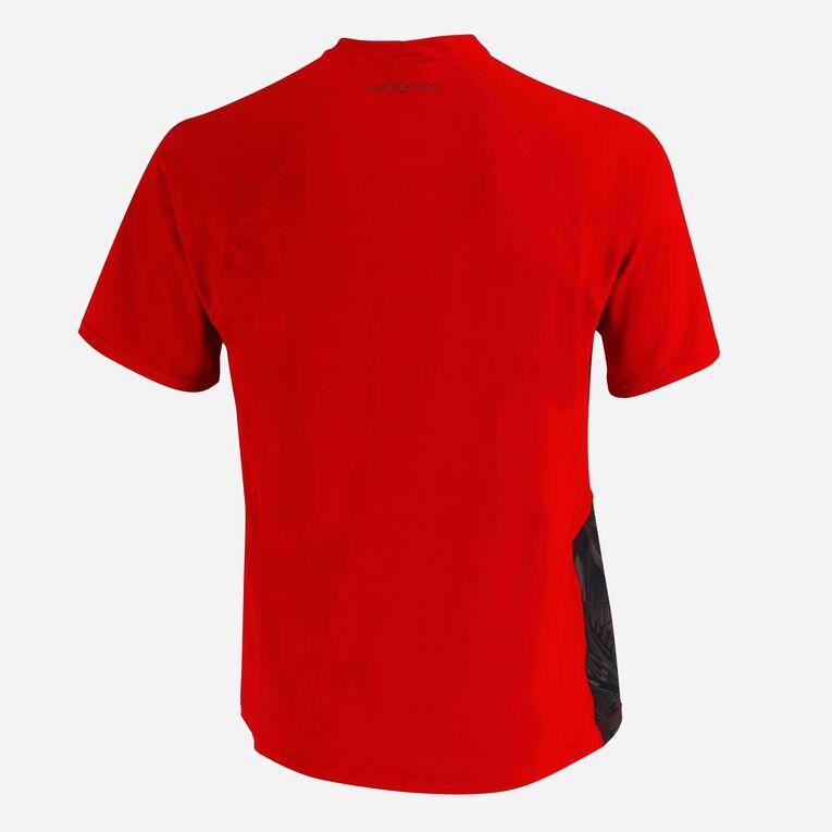 Xscape Rashguard short sleeves - Men, Rouge/Vert foncé, hi-res image number 3