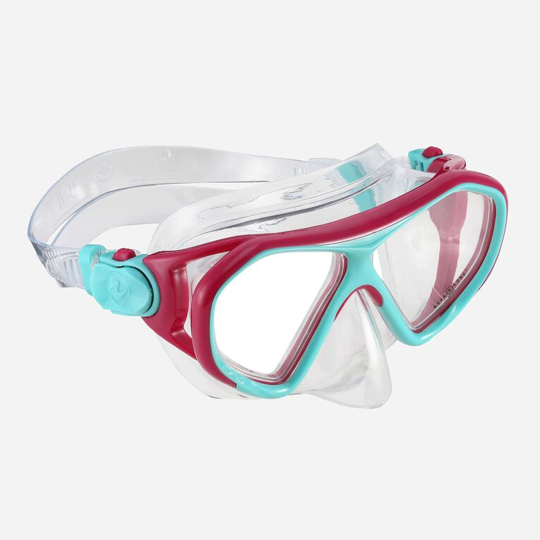 Urchin Snorkeling mask Junior, Rose vif/Turquoise, hi-res image number 0