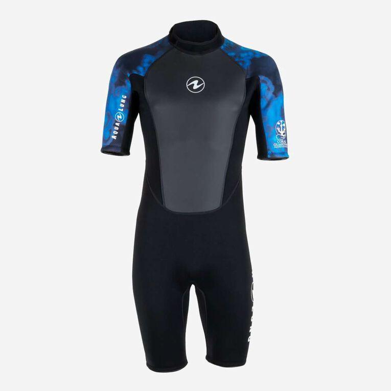 HydroFlex 3mm Coral Guardian Shorty Men, Noir/Bleu, hi-res image number 0
