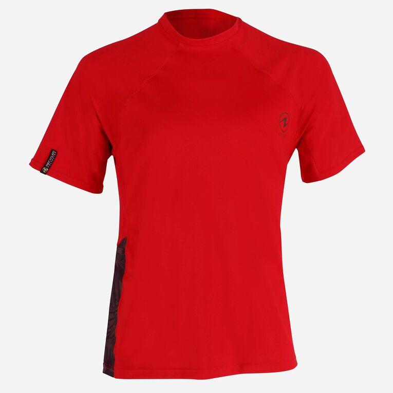 Xscape Rashguard short sleeves - Men, Rouge/Vert foncé, hi-res image number 0