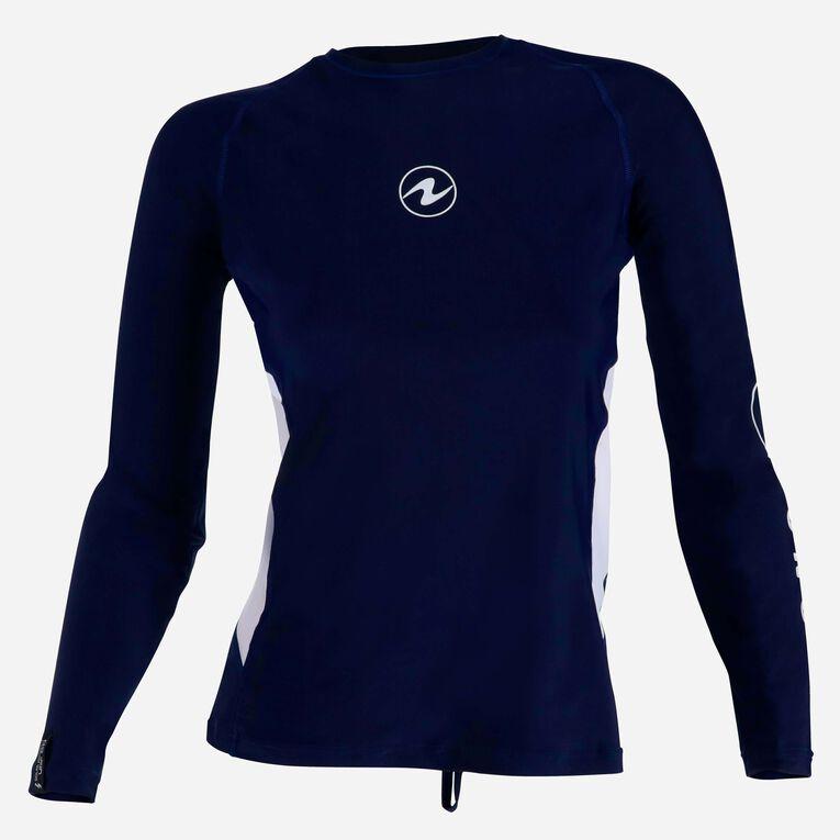 Rashguard Loose fit Long sleeves - Women, Bleu marine/Blanc, hi-res image number 0