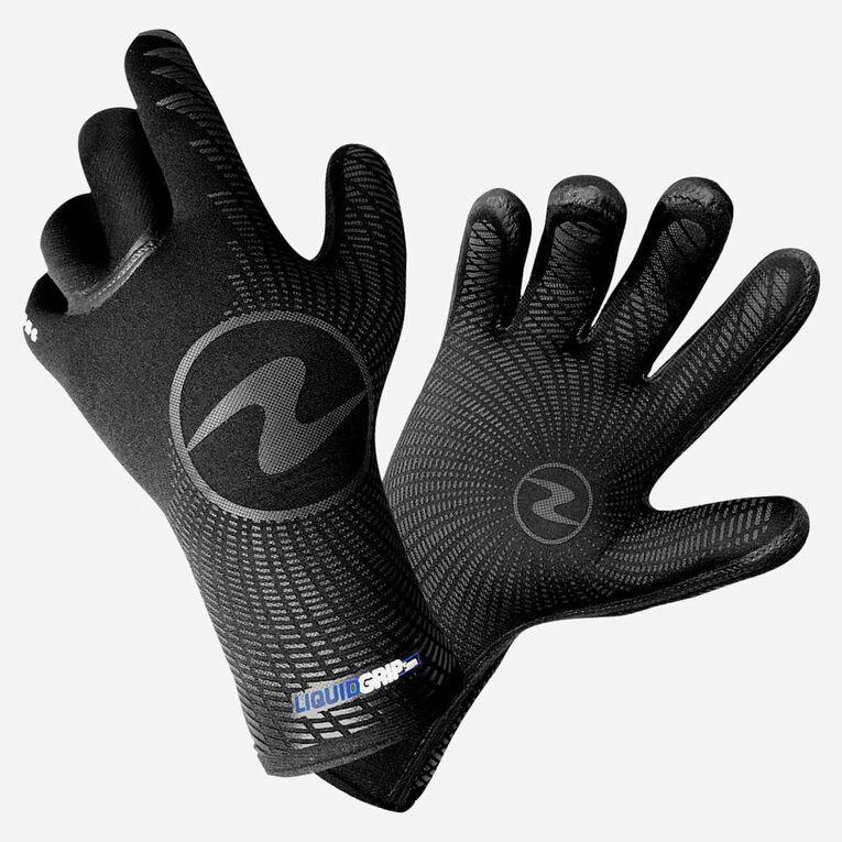 3mm Liquid Grip Gloves, Noir/Bleu, hi-res image number 0