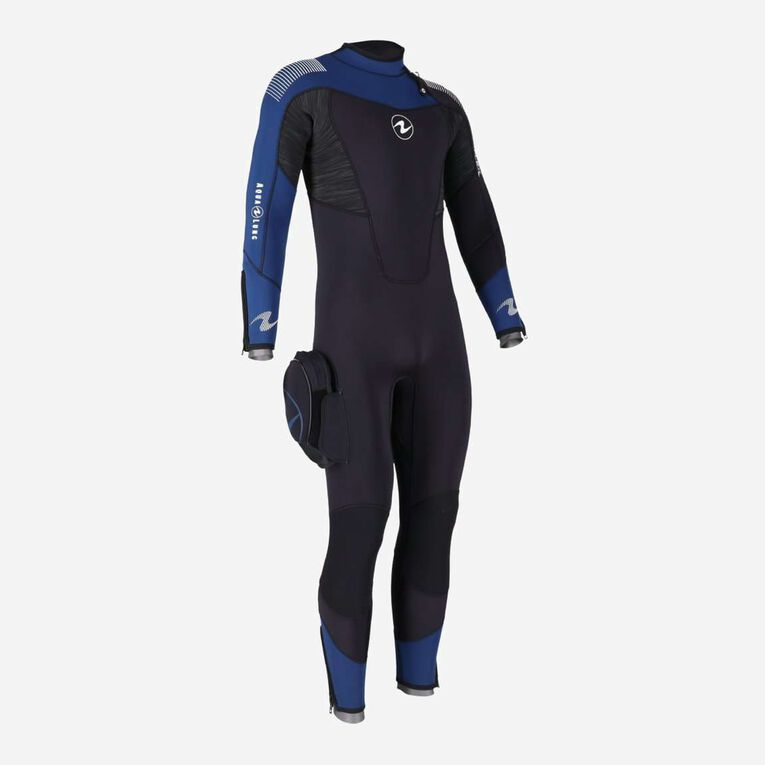 DynaFlex 5.5mm Wetsuit Men, Noir/Bleu marine, hi-res image number 3
