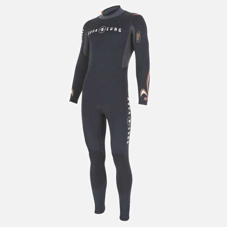 Dive 3mm Wetsuit, Noir/Orange, hi-res image number 2