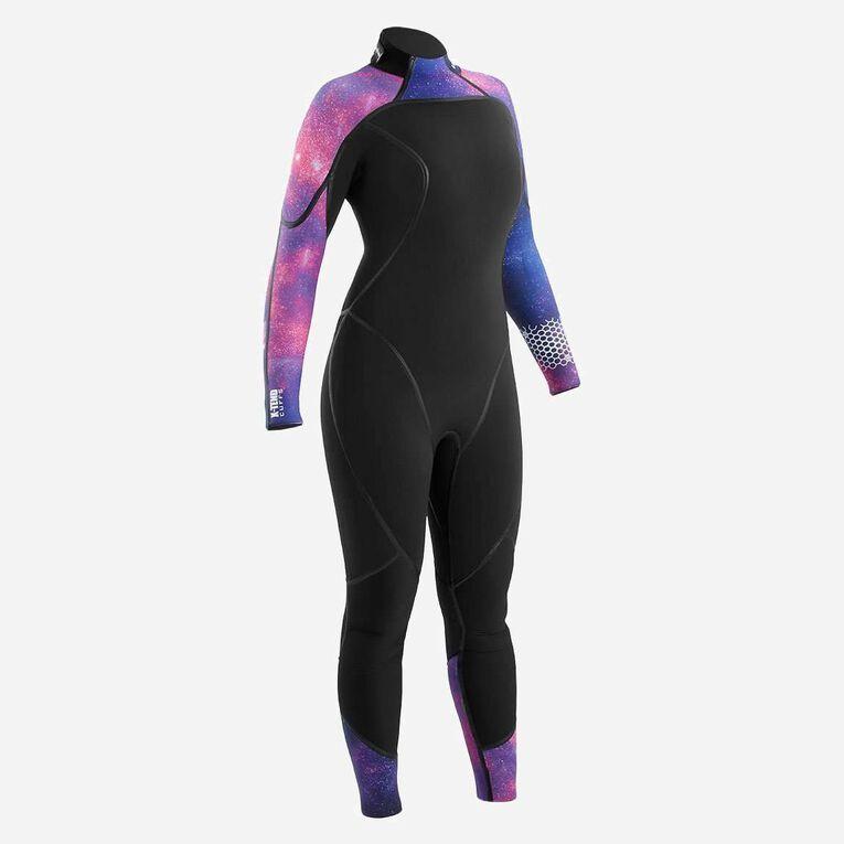 AquaFlex 5mm Wetsuit - Women, Noir/Violet, hi-res image number 0