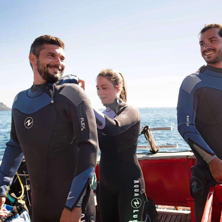 DynaFlex 7mm Wetsuit Men, Noir/Bleu marine, hi-res image number 4