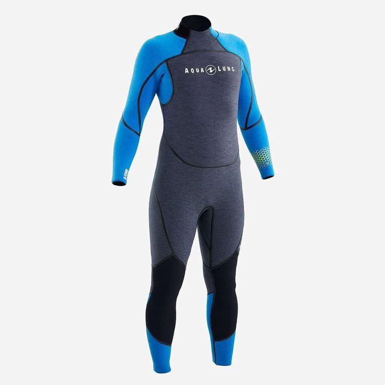 AquaFlex 5mm Wetsuit - Men, Gris/Bleu, hi-res image number 0