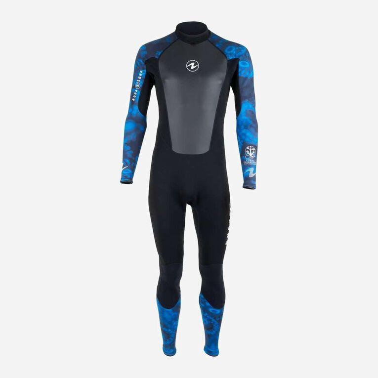 HydroFlex 3mm Coral Guardian Wetsuit Men, Noir/Bleu, hi-res image number 0