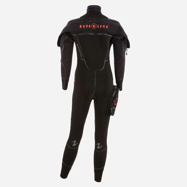 Iceland 7mm Semi Dry Wetsuit Femme, Noir/Corail, hi-res image number 2