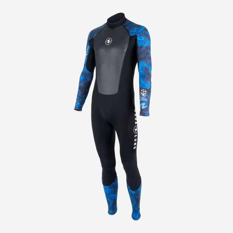 HydroFlex 3mm Coral Guardian Wetsuit Men, Noir/Bleu, hi-res image number 2