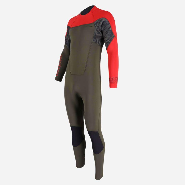 Xscape 4/3mm Wetsuit - Men, Vert foncé/Rouge, hi-res image number null
